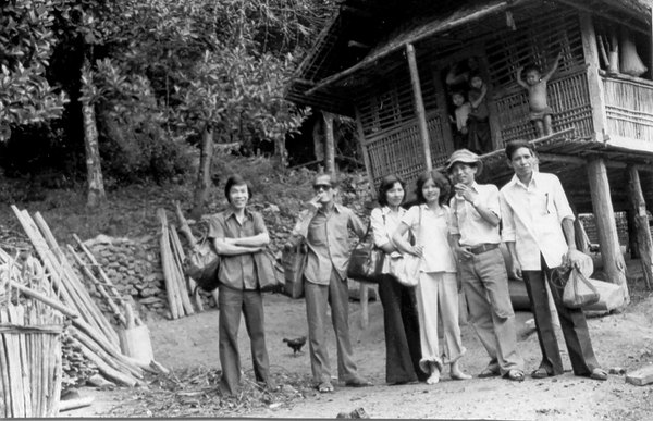 Tu Nguyen's group in front of their house in the village.